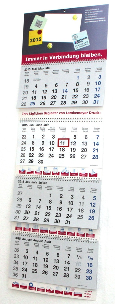 Kalender drucken 2022: 4-Monatskalender